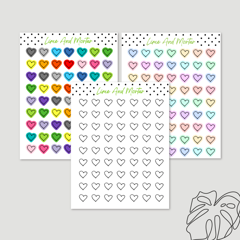 Hearts Mini Icon Stickers