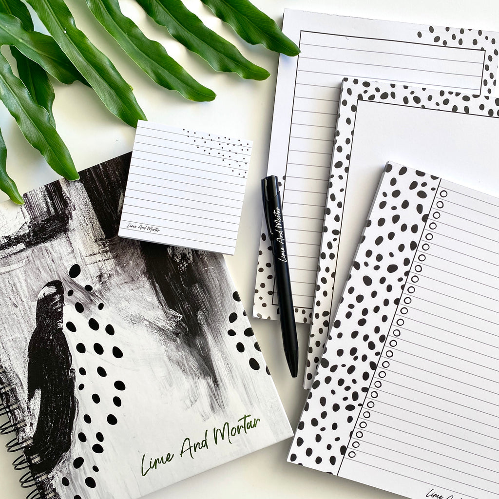 Lined Polka Dot Sticky Notes