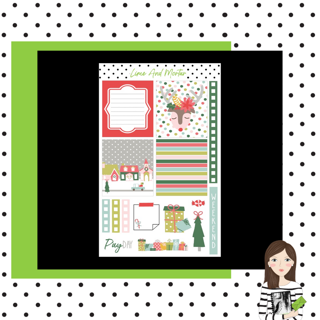 Jingle Bells Lime Weekly Mini Kit