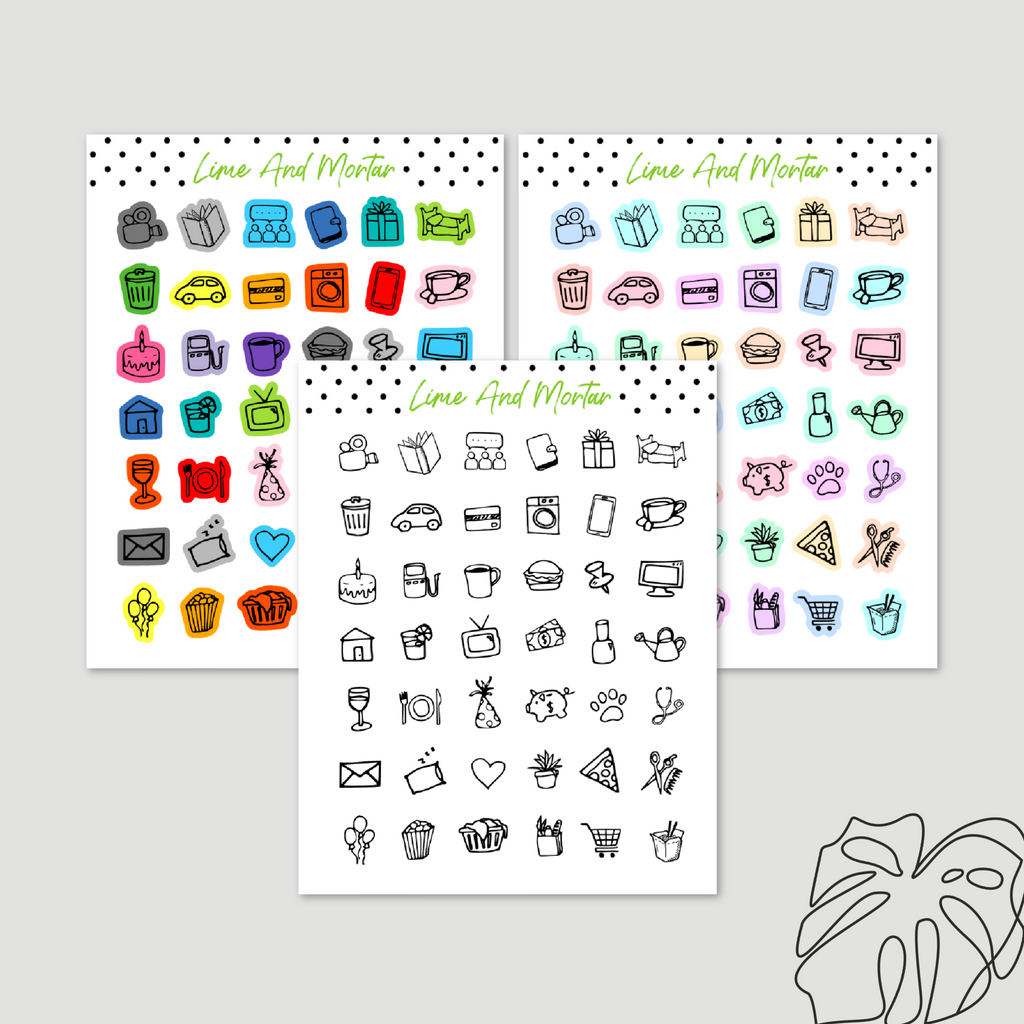 Mixed Mini Icon Stickers