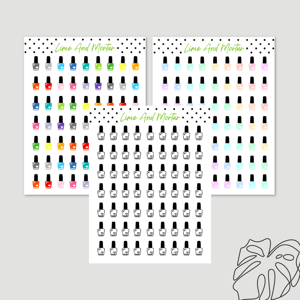 Nail Polish Mini Icon Stickers