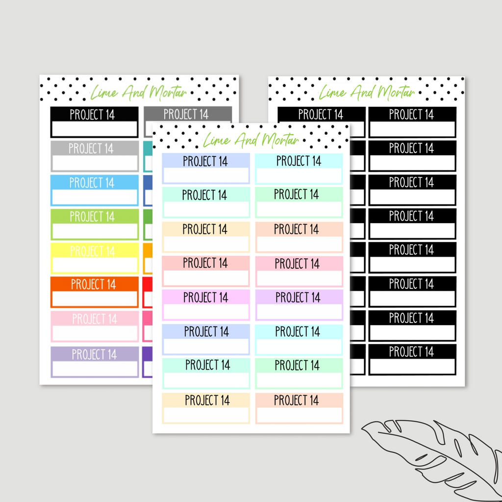 Project 14 Label Planner Stickers