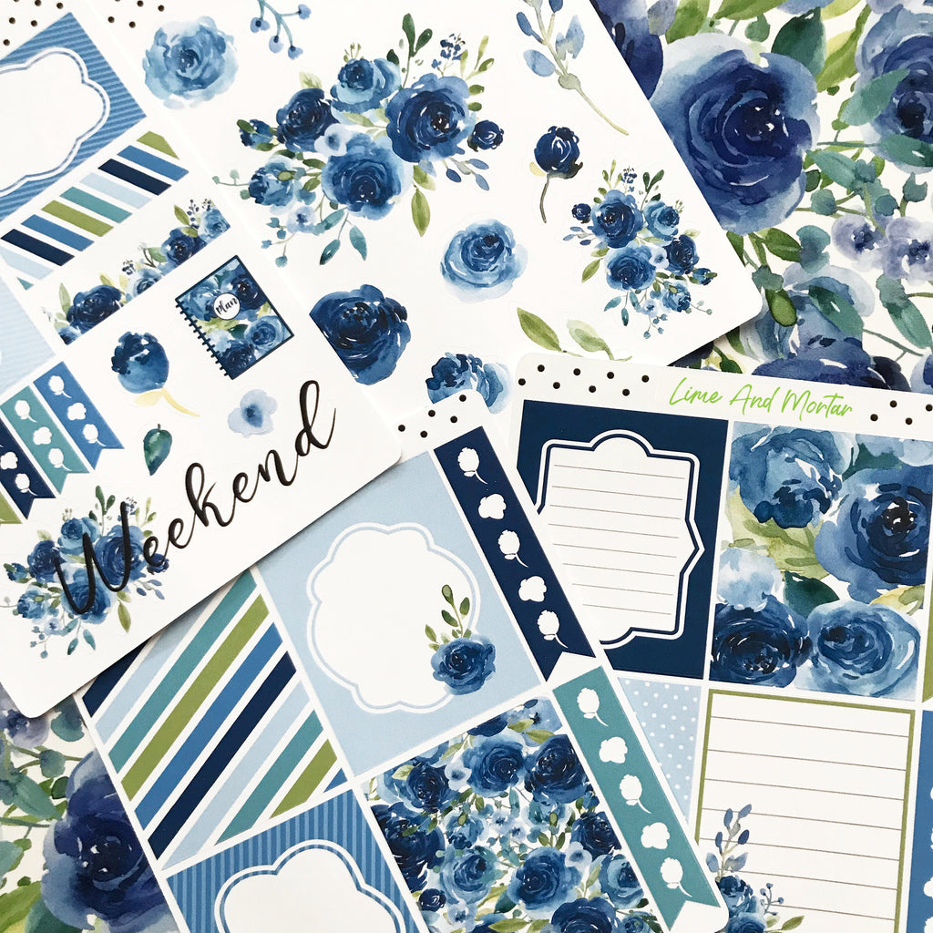 Blue Rose Decorative Stickers
