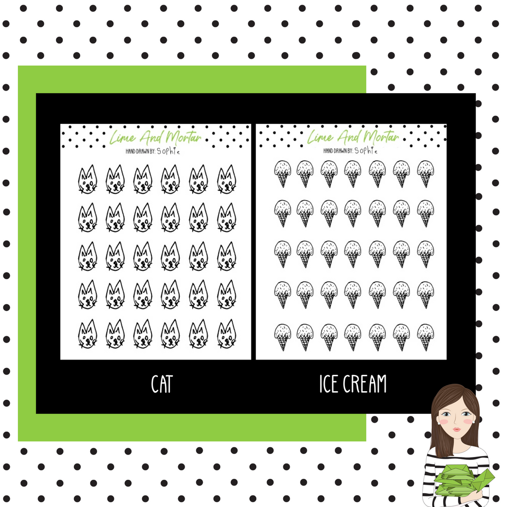 Hand Drawn Mini Icons By SOPHIE
