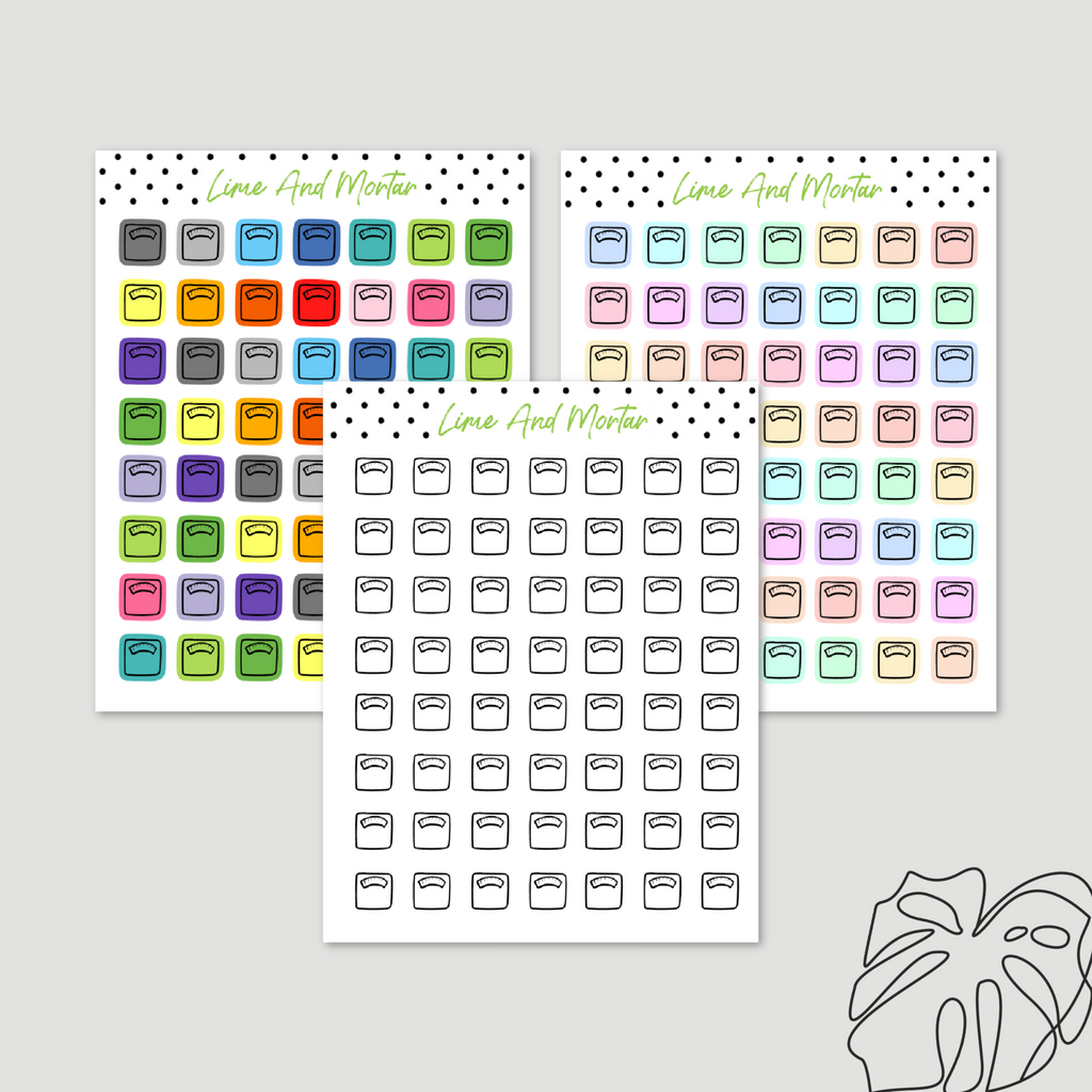 Scales Mini Icon Stickers