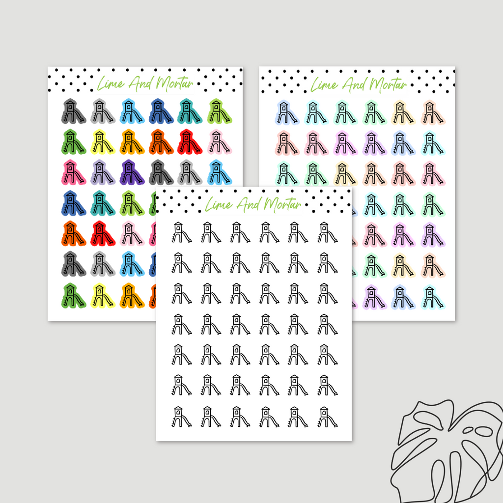Park Slide Playdate Mini Icon Stickers