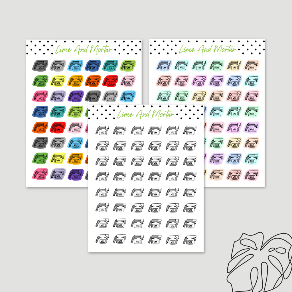 Wax Mini Icon Stickers