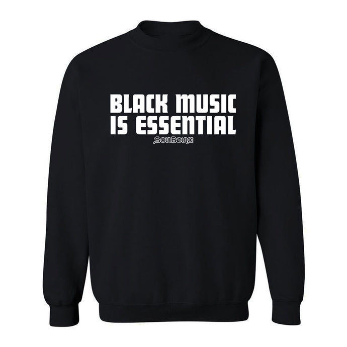 Black Music Is Essential Crew Neck Sweatshirt