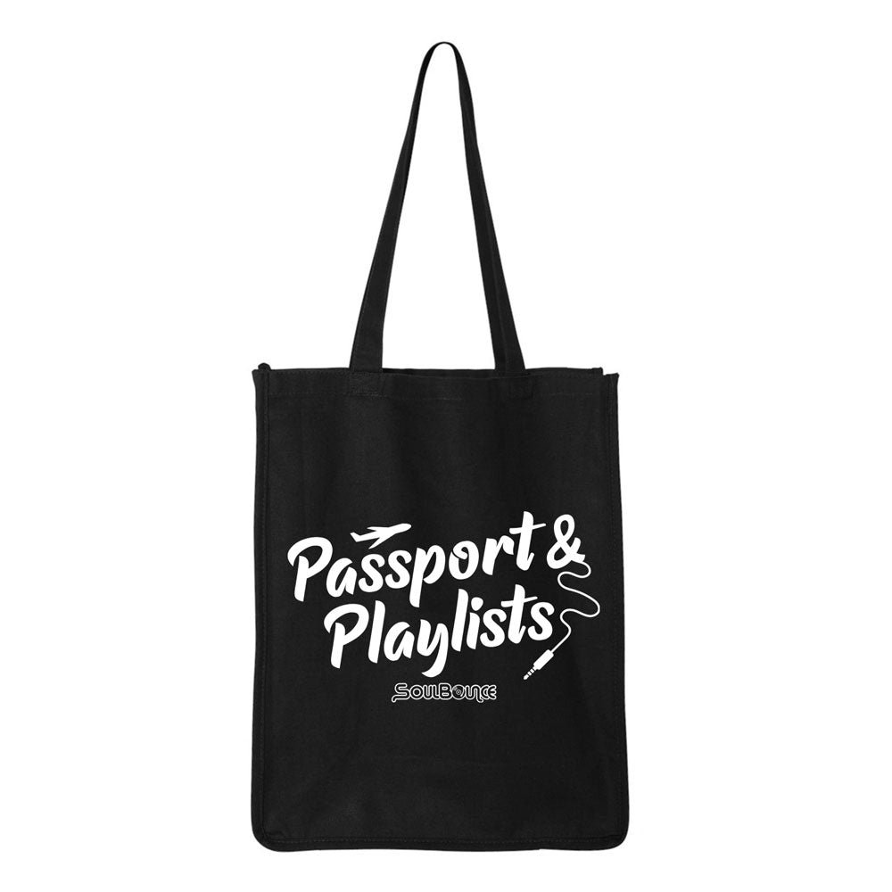Passport & Playlists Shopping Bag
