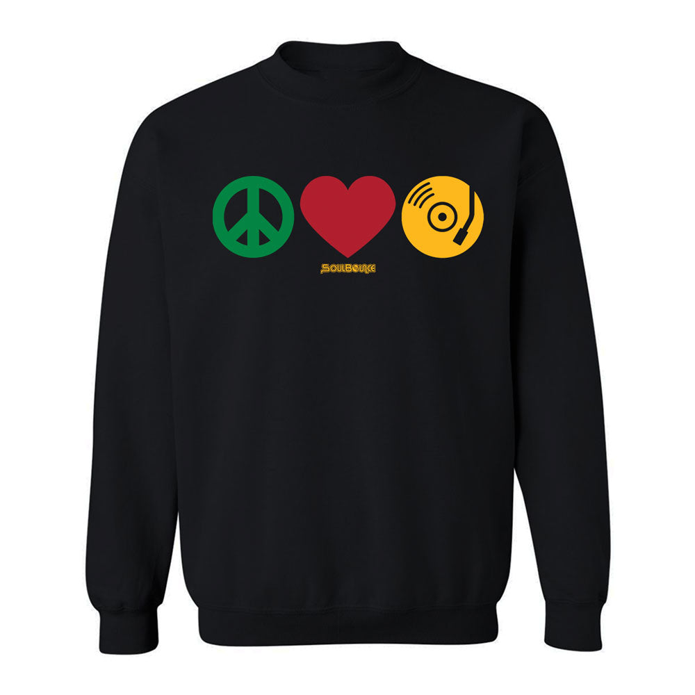 LIMITED EDITION: Peace, Love, SoulBounce Crew Neck Sweatshirt
