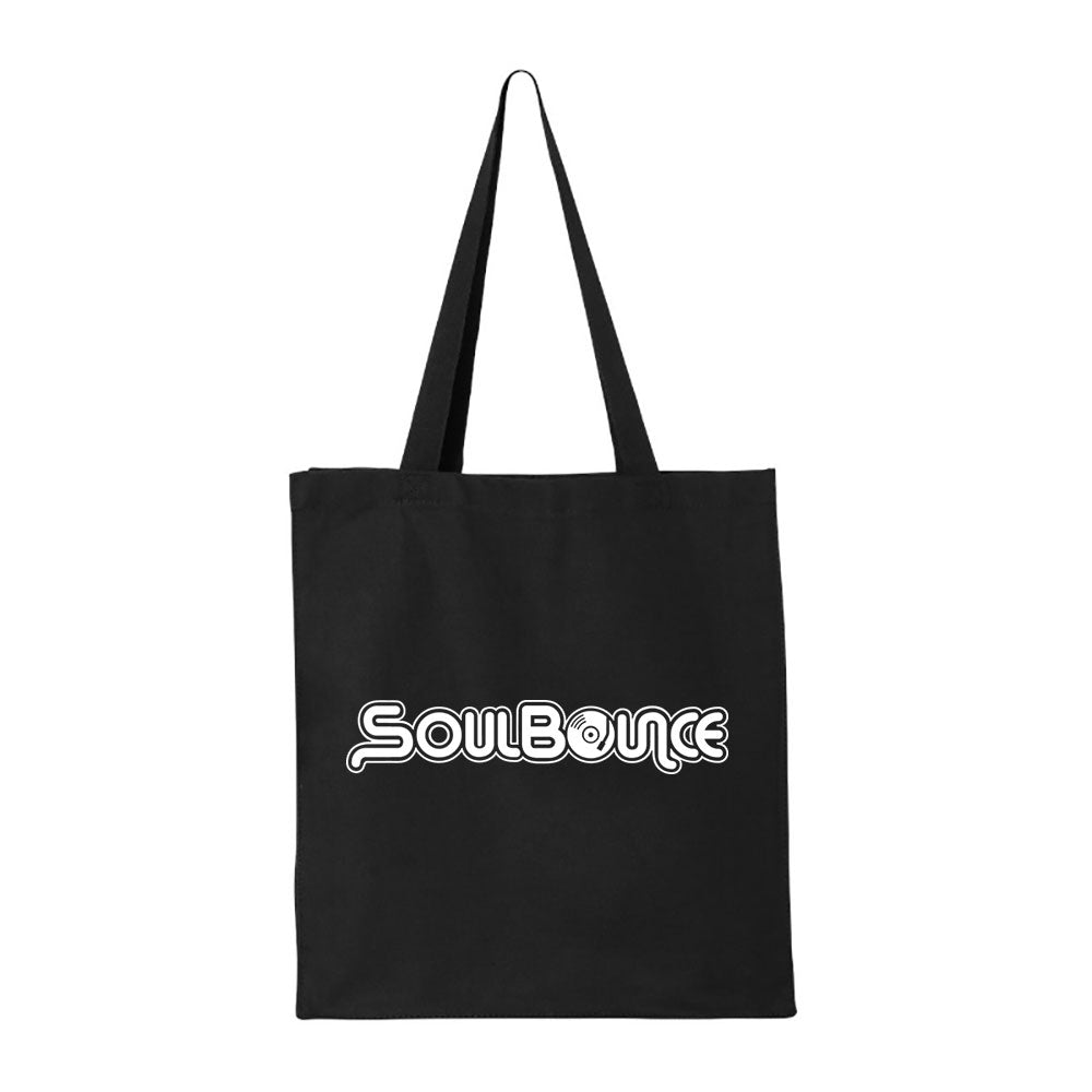 SoulBounce Logo Tote/Record Bag - White Remix