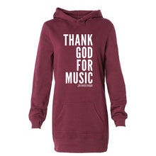 Thank God For Music Hooded Sweatshirt Dress
