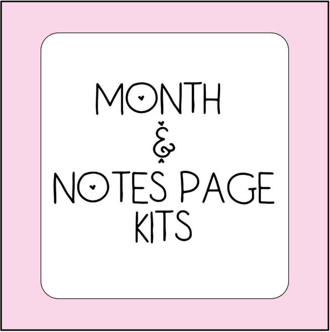 Month & Note Page Sticker Kits