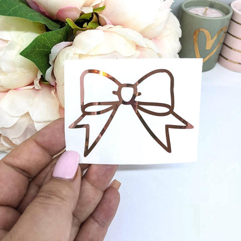 Vinyl Bow Decal