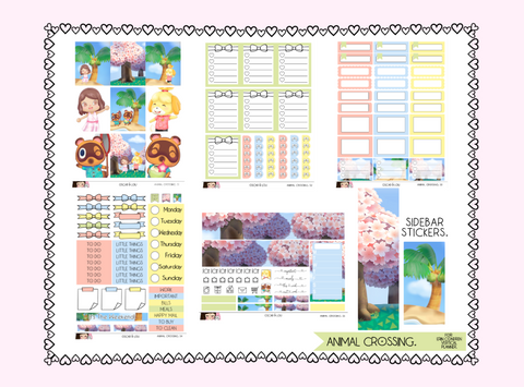 Vertical Sticker Kit - Animal Crossing