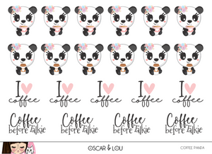 Mini Sheet  - Coffee Pandas