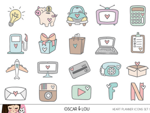 Mini Sheet  - Heart Planner Icons