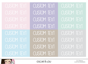 Erin Condren Custom Headers