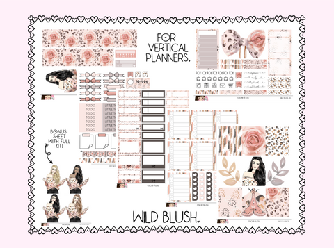 Vertical Sticker Kit - Wild Blush