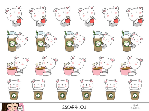 Mini Sheet  - Bear Coffee