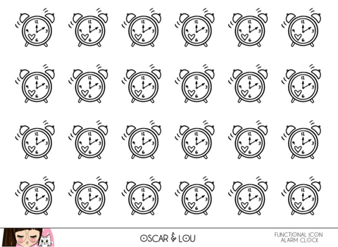 Mini Sheet  - Neutral Heart Planner Icons Set 1