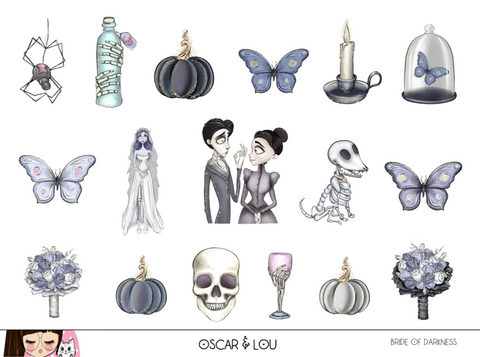 Mini Sticker Sheet  - Bride of Darkness