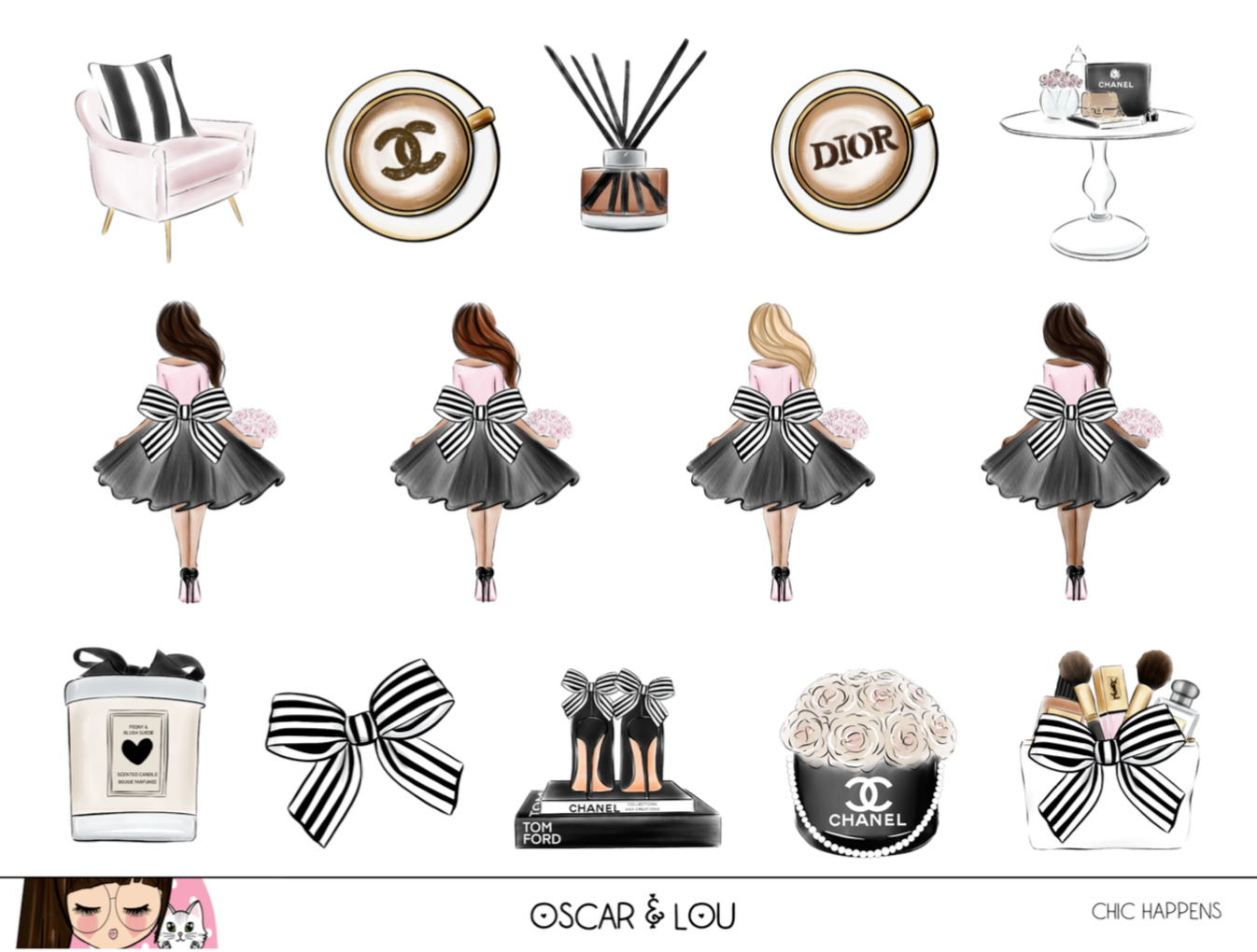 Mini Sticker Sheet  - Chic Happens