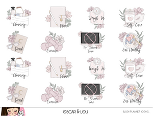 Mini Sticker Sheet  - Blush Planner Icons