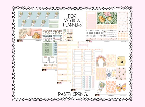 Vertical Sticker Kit - Pastel Spring