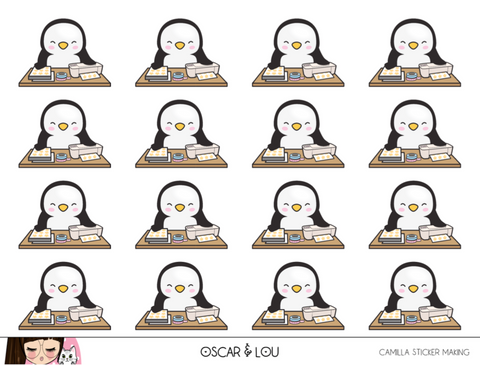 Mini Sheet  - Camilla The Penguin Sticker Making