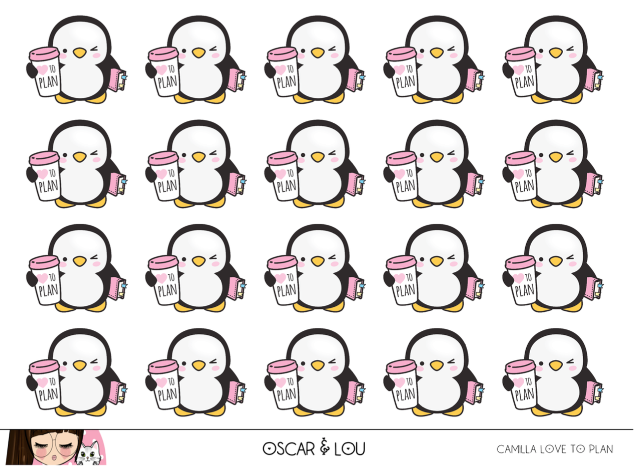 Mini Sheet  - Camilla The Penguin Love To Plan