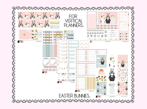Vertical Sticker Kit - Easter Bunnies
