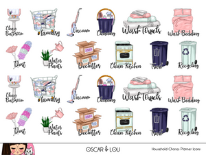 Mini Sticker Sheet  - Household Chores Planner Icons