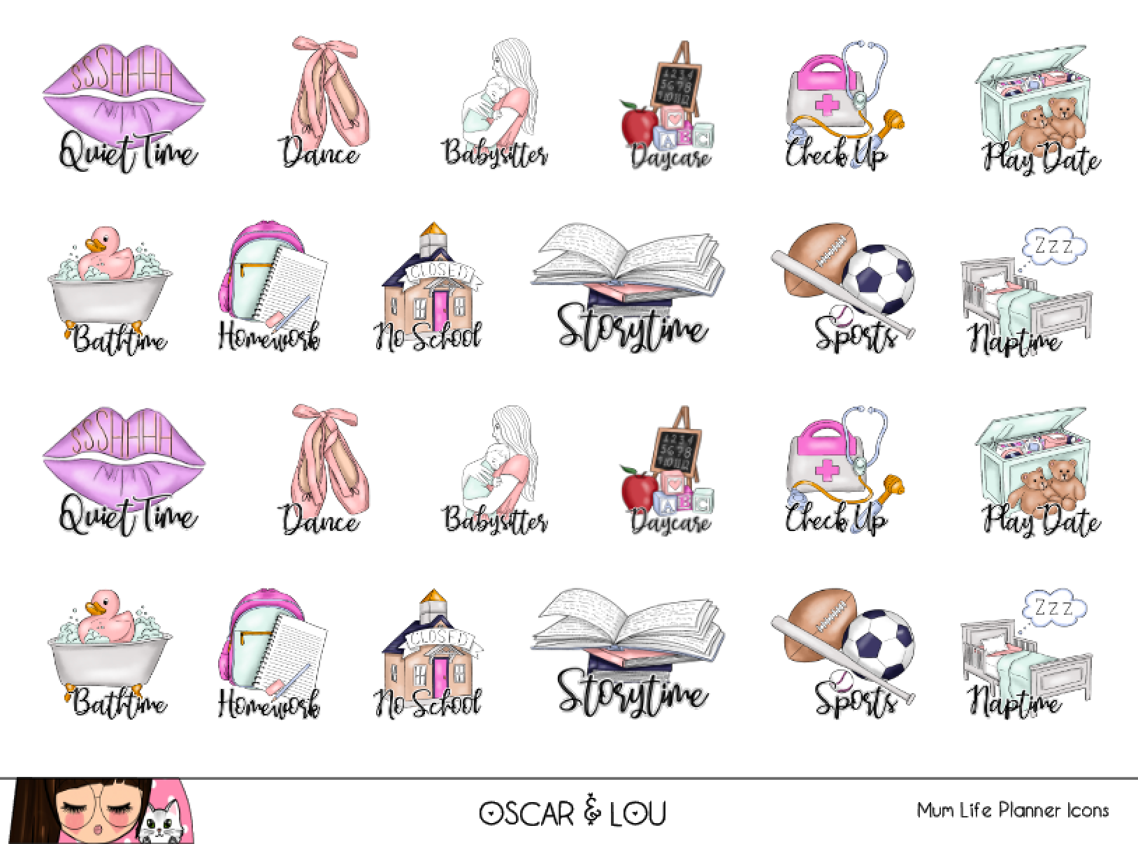 Mini Sticker Sheet  - Mum Life Planner Icons