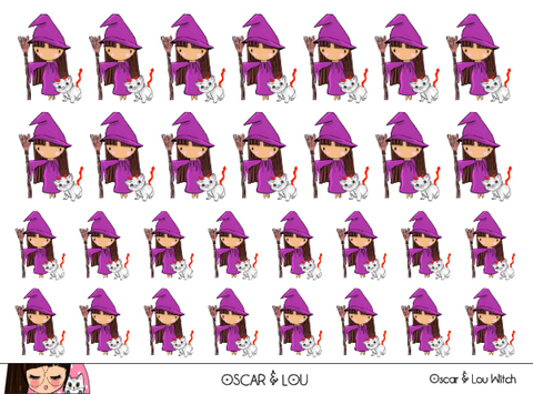Mini Sticker Sheet  - Oscar & Lou Witch