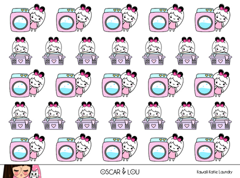 Mini Sheet  - Kawaii Katie Laundry