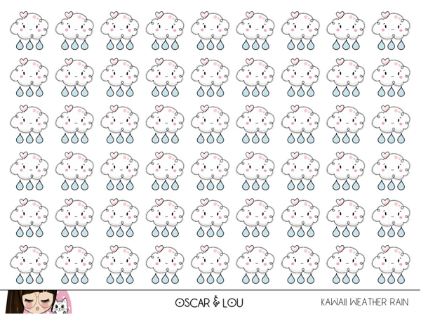 Mini Sticker Sheet  - Kawaii Weather Icons