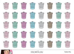 Mini Sheet  - Rubbish Bins Pastel