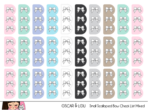 Mini Sheet  - Small Scalloped Bow Checklist