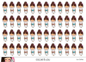 Mini Sticker Sheet  - Lou Coffee