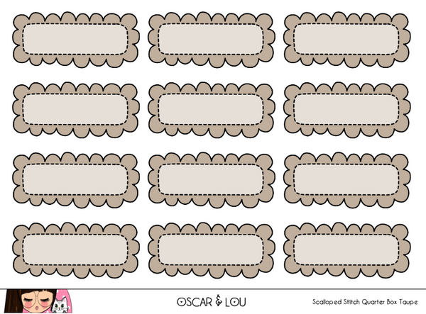 Mini Sheet  - Scalloped Stitch Quarter Boxes
