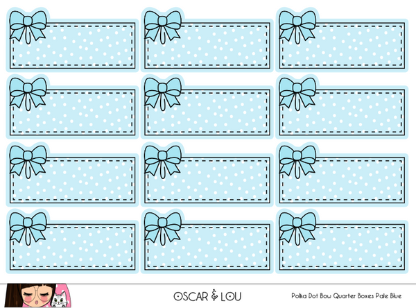 Mini Sheet  - Polka Dot Bow Quarter Boxes