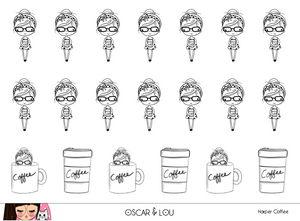 Mini Sticker Sheet  - Harper Coffee