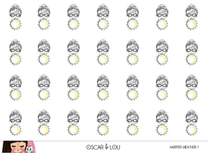Mini Sticker Sheet  - Harper Weather