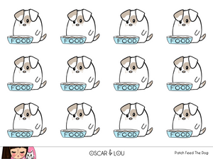 Mini Sticker Sheet  - Patch Feed The Dog