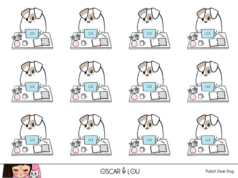 Mini Sticker Sheet  - Patch Desk Dog