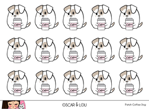 Mini Sticker Sheet  - Patch Coffee Dog