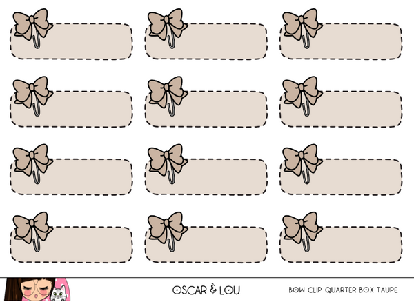 Mini Sheet  - Bow Clip Quarter Boxes