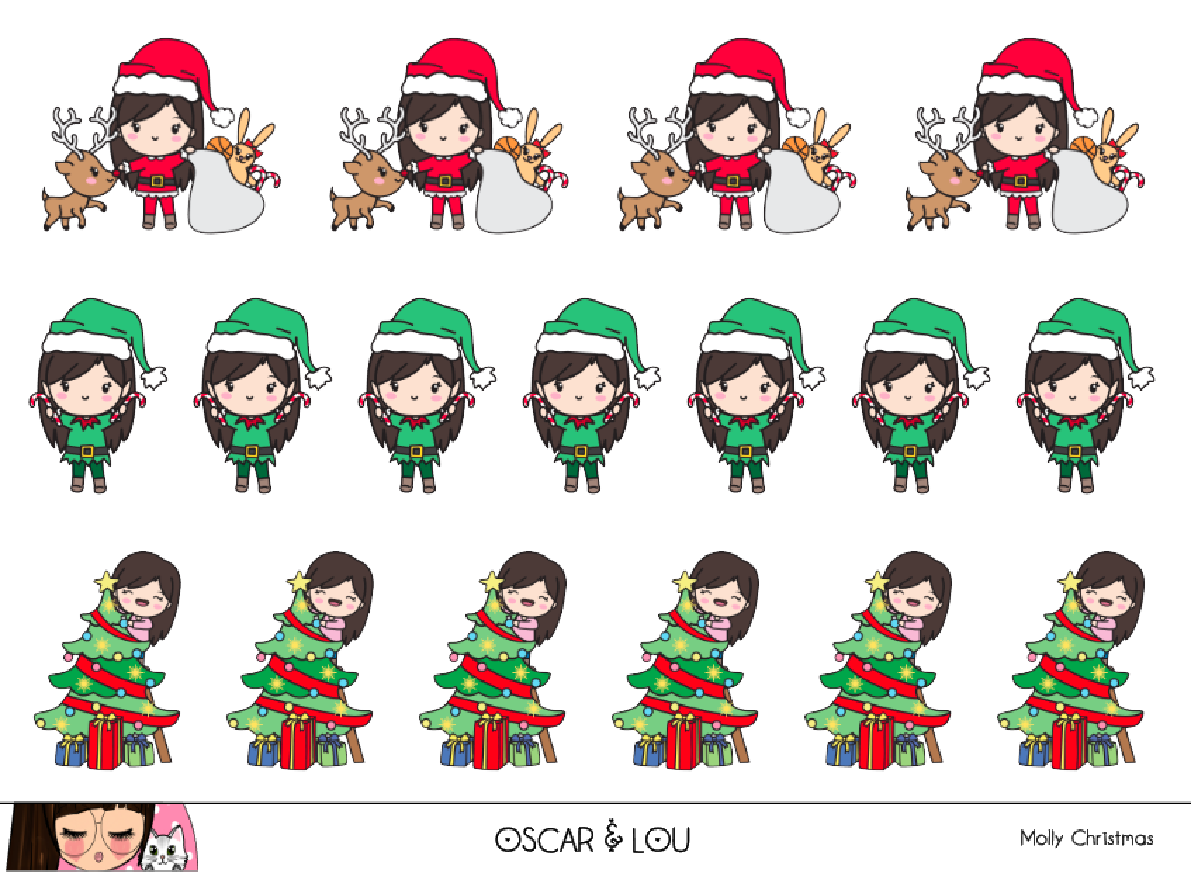 Mini Sheet  - Molly Christmas