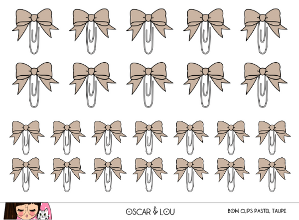 Mini Sheet  - Bow Clips (Pastel)